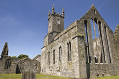Ireland, with an old abbey. Old ancient stone friary ireland Stock Image
