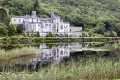 Kylemore abbey. Pollacappul Ireland, - July 20, 2016: The famous Kylemore Abbey in Connemara, County Galway, Ireland Stock Photos
