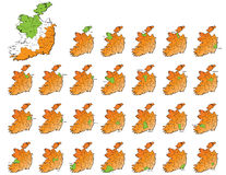 Ireland provinces maps Stock Photo