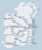 Ireland railway map Royalty Free Stock Image