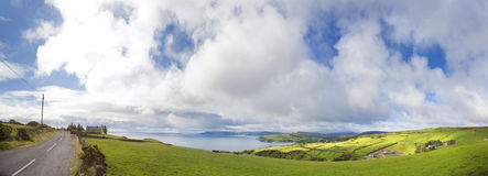 Ireland On The Road. Panorama of Antrim County, North Ireland Royalty Free Stock Image