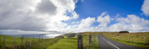 Ireland On The Road. Panorama of Antrim County, North Ireland Royalty Free Stock Photography
