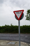 Ireland. Road signs. Yield Royalty Free Stock Photography