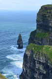Ireland`s Cliffs of Moher Needle and Galway Bay Royalty Free Stock Photography