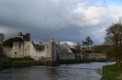 Ireland`s Desmond Castle Ruins in County Limerick Stock Photos