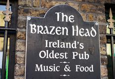 Ireland`s oldest pub in downtown Dublin stock image