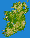 Irish Ireland map Stock Image