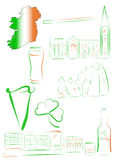 Ireland sights and symbols Stock Images