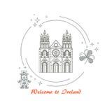 Ireland travel banner Stock Photography