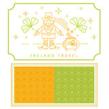 Ireland travel linear vector icons Stock Photography