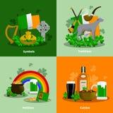 Ireland 2x2 Design Concept Set Royalty Free Stock Images