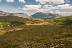 ireland zachód krajobrazowy sceniczny wibrujący Zdjęcia Royalty Free