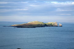 Irelands eye. A view of irelands eye island from howth head Stock Image