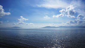 Irelands Forty Shades of Blue. A photo of Lough Swilly , Co.Donegal, Ireland showing that Irelands not all green Royalty Free Stock Photography