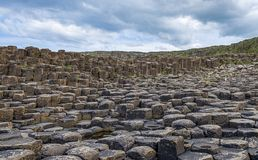 Irelands rocky Giant Causeway. A view of rocks from the Giant Causeway in Northern Ireland stock photography