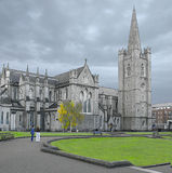 Irelands St. Patricks church. Several tourists are viewing the very famous Irish church St Patricks  RC church located in the city of Dublin Stock Photography