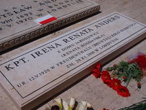 Irena Anders grave, Monte Cassino, Italy Stock Image