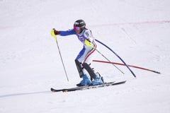 Irene Curtoni - skieur alpestre italien Images stock