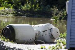 irene för skadeflodorkan northfield vermont Arkivbild