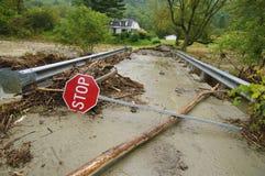 Irene-Schaden nahe Tunbridge Vermont