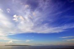 Irgendeine Insel mitten in dem Meer, Sumenep, EastJave Indonesien Stockbild