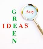 Irgendwelche grünen Ideen? lizenzfreie stockfotografie