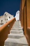 Irgendwo in Santorini Lizenzfreies Stockfoto