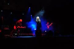 IRIDE rumena della banda rock di concerto Fotografia Stock