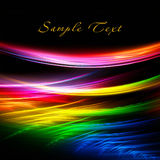 Iridescent background. Abstract rainbow lines on a black background Royalty Free Stock Photo