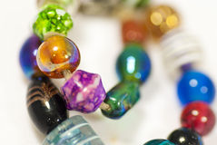 iridescent beads Stock Image