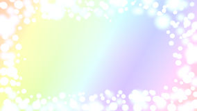 Iridescent bokeh border card. Invitation card with bokeh border frame and iridescent rainbow background Royalty Free Stock Image