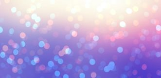 Iridescent bokeh luxury banner. New Year night empty background. Glitter on yellow, pink, violet magic backdrop. Gleam texture. Stylish image for a variety of Stock Photos