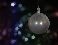 Iridescent Christmas bauble Royalty Free Stock Photo