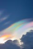 Iridescent cloud,Irisation Stock Photo