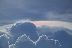 Iridescent clouds royalty free stock photos