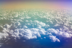 Iridescent clouds royalty free stock image