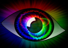 An iridescent eye Royalty Free Stock Photo
