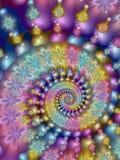 Iridescent fractal spiral Royalty Free Stock Photos