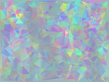 Iridescent Geometric Background. Trendy stylized iridescent polygons, abstract holographic background Royalty Free Stock Photography