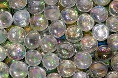 Iridescent glass beads Royalty Free Stock Photo