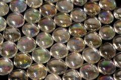 Iridescent glass beads Stock Photo