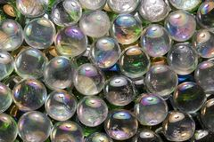 Iridescent glass beads Royalty Free Stock Images