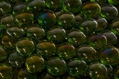 Iridescent glass beads Stock Photos