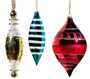 Iridescent glass ornaments Stock Photo