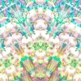 Iridescent glass pattern with floral double exposure stock photos
