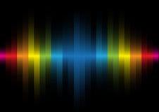 Iridescent light on a black background. The iridescent light on a black background Royalty Free Stock Image