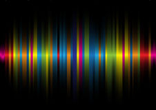 Iridescent light on a black background2. The iridescent light on a black background Stock Image
