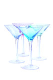 Iridescent Martini Glasses Stock Photo