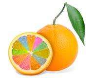 Iridescent orange Stock Photo