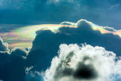 Iridescent pileus cloud Royalty Free Stock Images